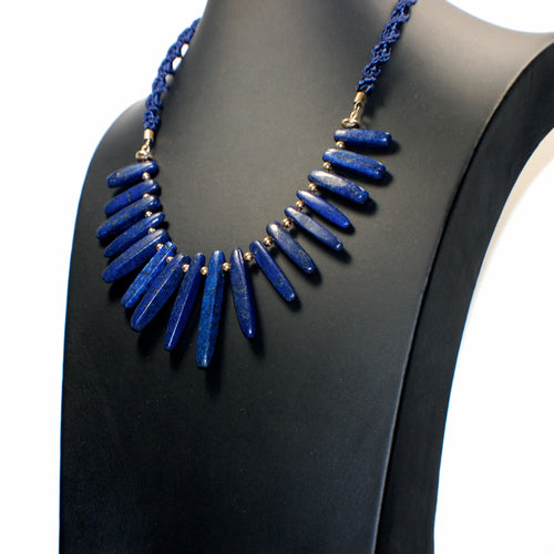 Lapis Gold Necklace