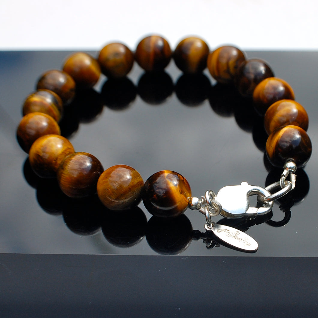 Stushlery Men's Tiger's Eye Bracelet