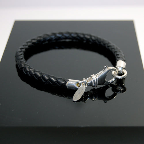 Stushlery Men's Plaited Leather Bracelet