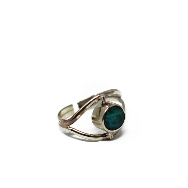 Eye Chrysocolla Ring