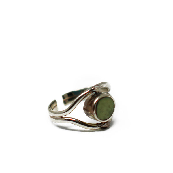 Eye Green Serpentine Ring