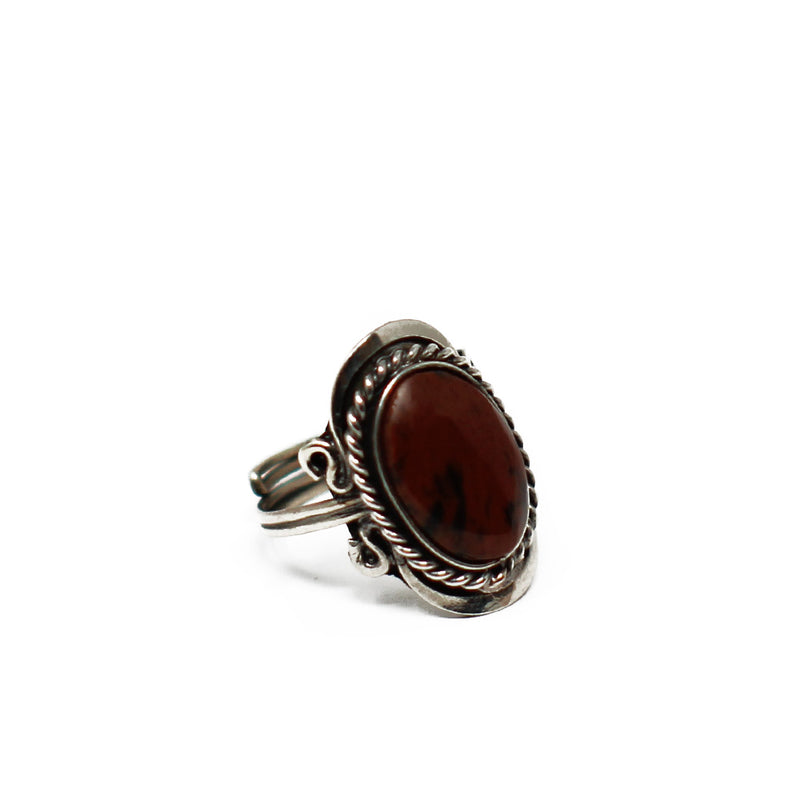 Gipsy Red Obsidian Ring