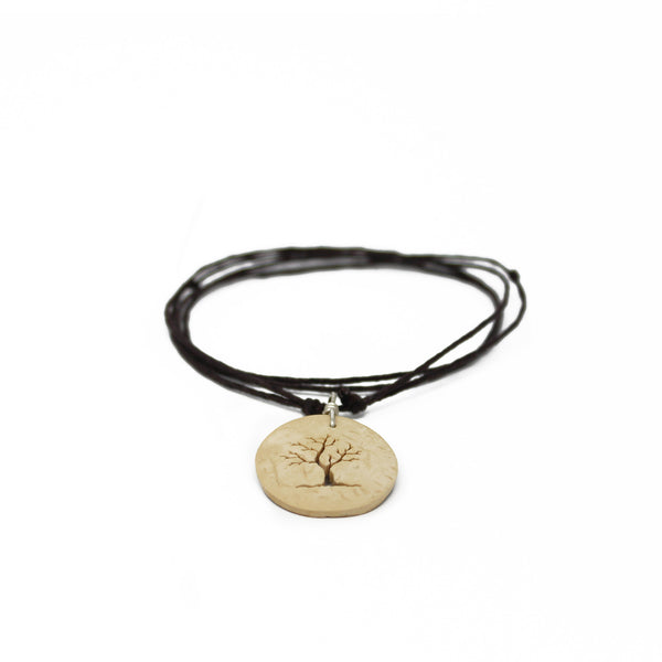 Tree Surfer Coconut Shell Necklace
