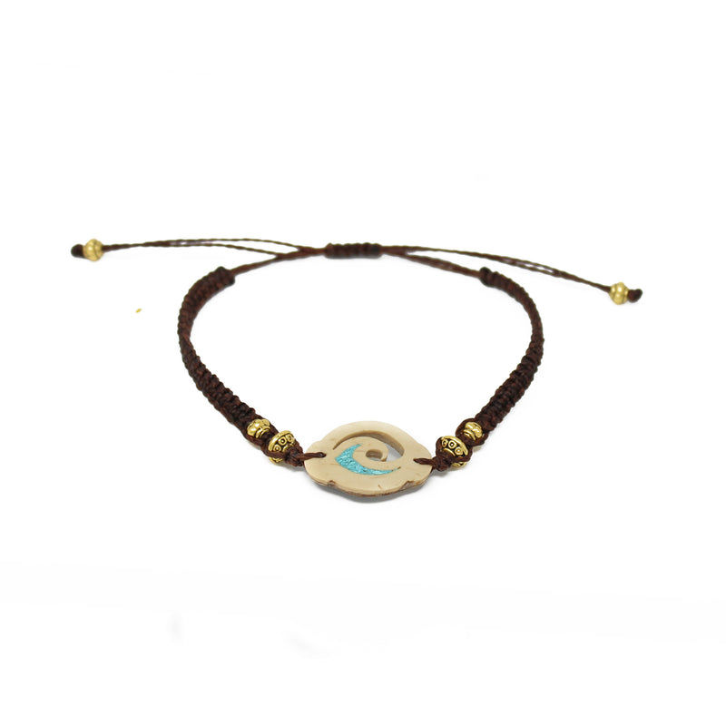Wave Coconut Shell Bracelet