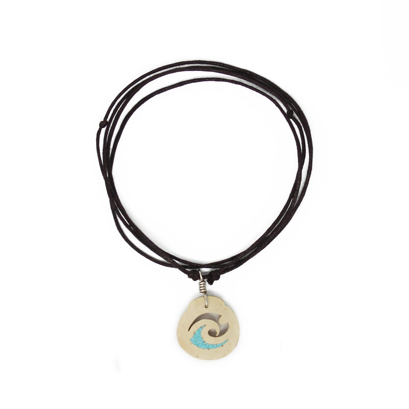 Wave Surfer Coconut Shell Necklace