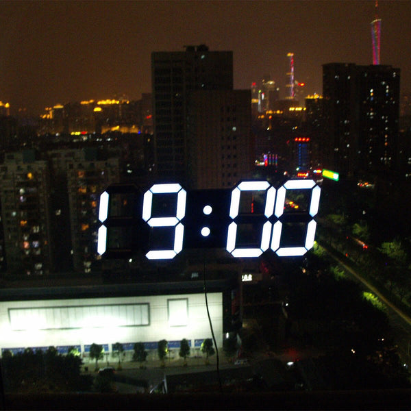 Large 3D LED Digital Wall Clock Black  Edition
