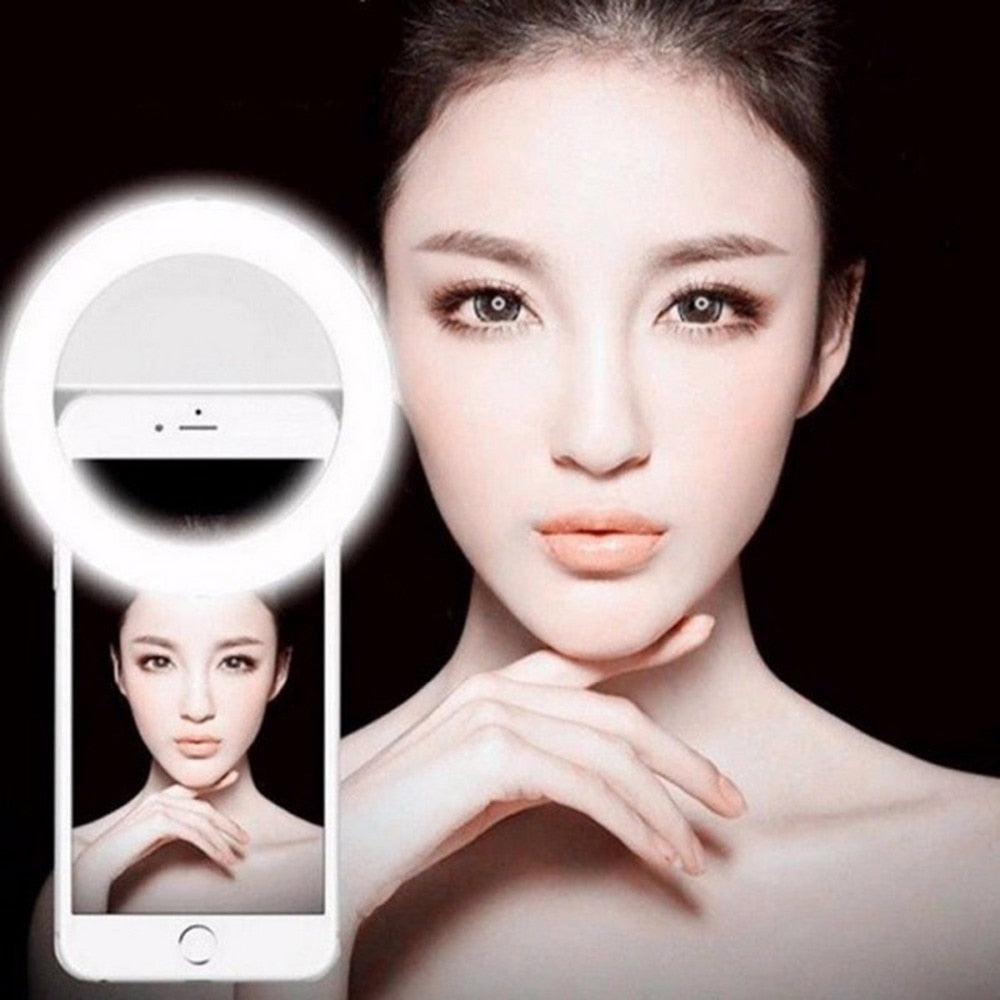 Selfie Ring Light Portable Flash Led Camera Phone