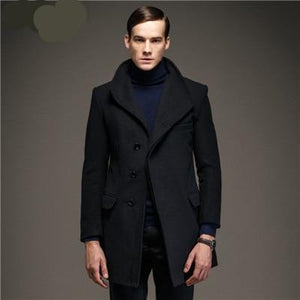 Mens woolen  Europe single breasted coat