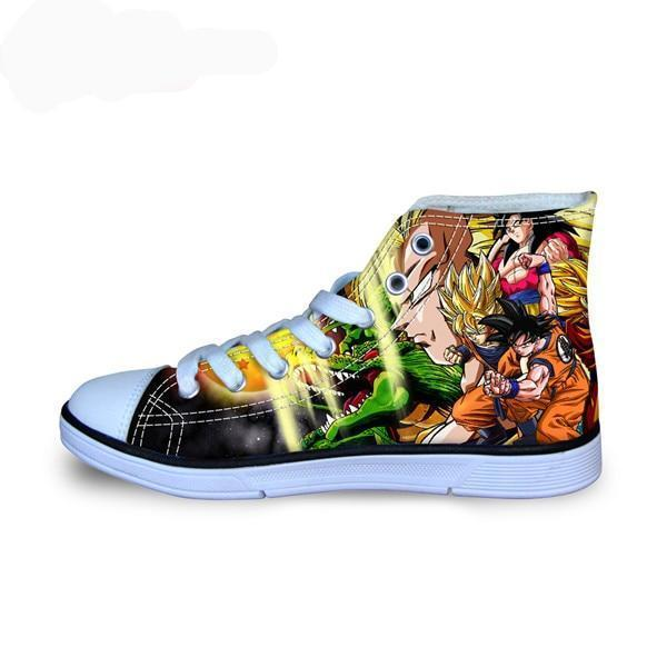 Dragon Ball Z Print Mens High-top  Shoes