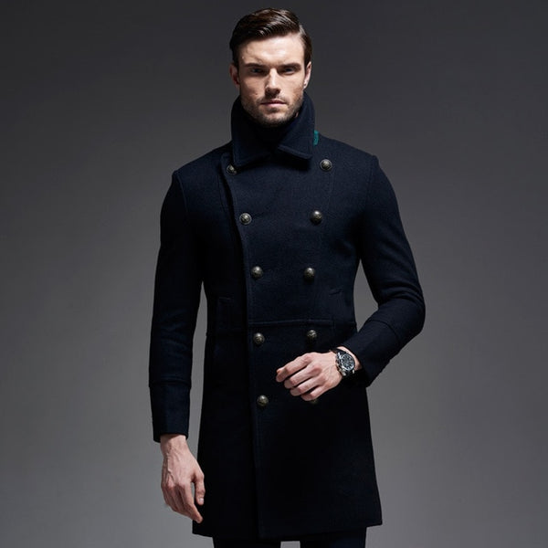 Wool Coat Quality Cashmere  Military