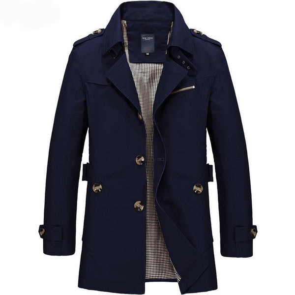 Men Jacket Trench Coat