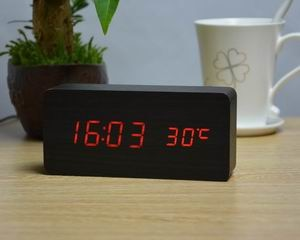 FiBiSonic Upgrade LED Alarm Clocks,Despertador Temperature Sounds Control LED Display Desktop Digital Table Clocks