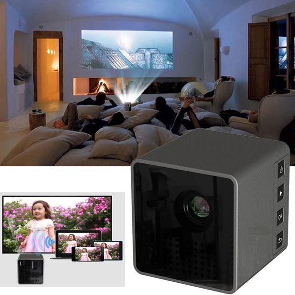 DPL Mini LED Projector Pocket Projector Portable HD 1080P 4:3/16:9 Multimedia Home Theater