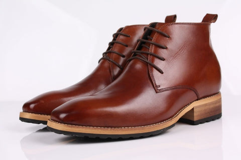 Mens Ankle Boots Genuine Leather