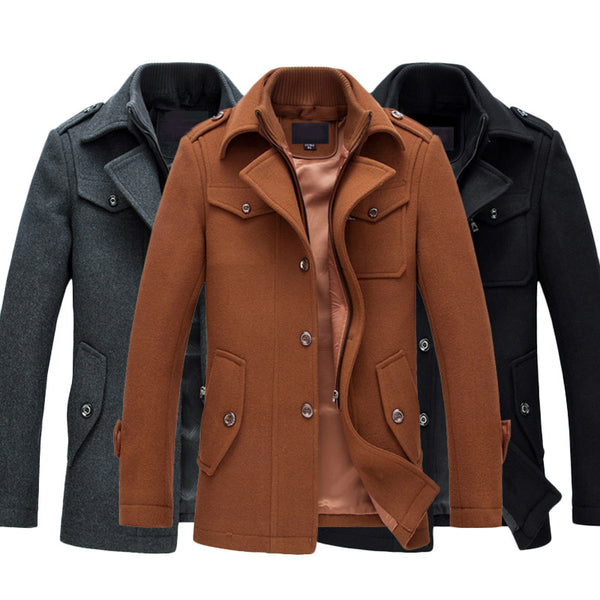 Wool Coat Slim Fit Jackets