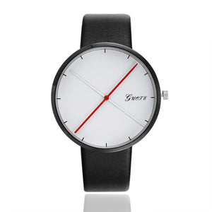 Simple Red Pointer Men Watches