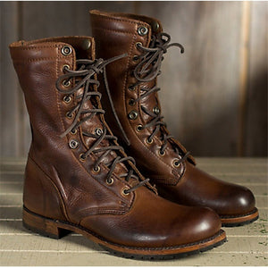Men  Brown Vintage Men Boots