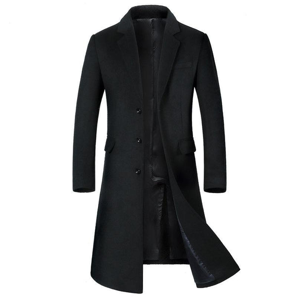 Overcoat Men's fashion wool Long style  trench coat single breasted