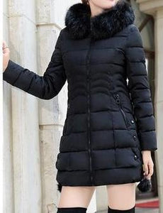 Faux Fur Parkas Women Down Jacket