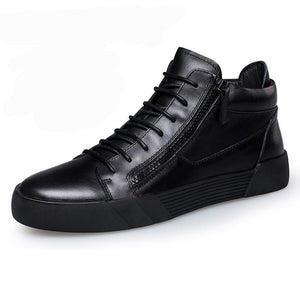 Men Causal  Leather Ankle Boots Shoes