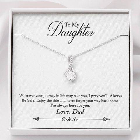 14k White Gold pendant with dainty cubic zirconia
