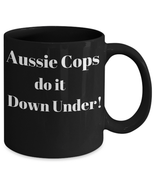 Aussie Cops - Do it Down Under - Mug blk