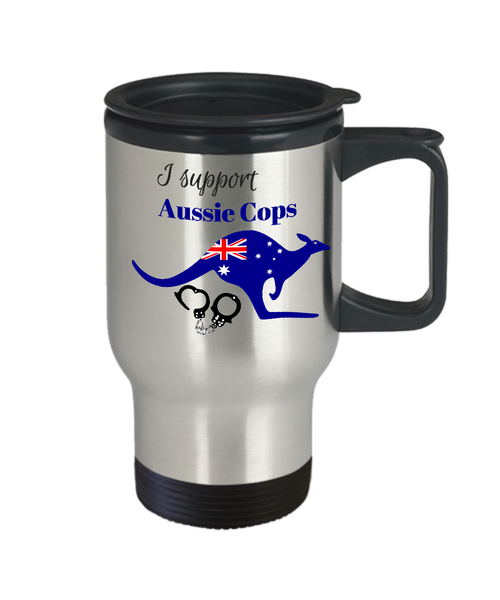 I support Aussie Cops Coffee Travel Mug