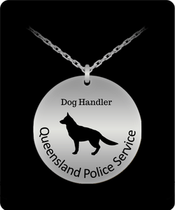 Queensland Police Service Dog Handler Stainless Steel Necklace