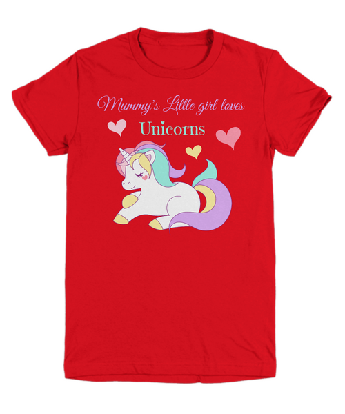 Mummy's Little girl loves Unicorns - Children's T-shirt