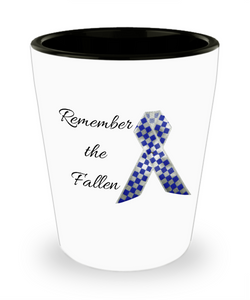 Remember the Fallen shot glass