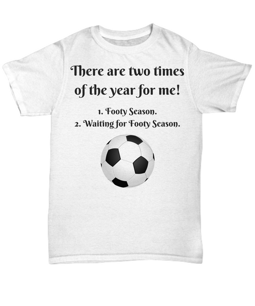 Two Times of Year for me - soccer