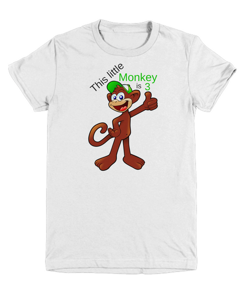 This little Monkey is 3 - t-shirt gift idea