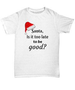 Funny Shirt - Santa is it too last to be good?