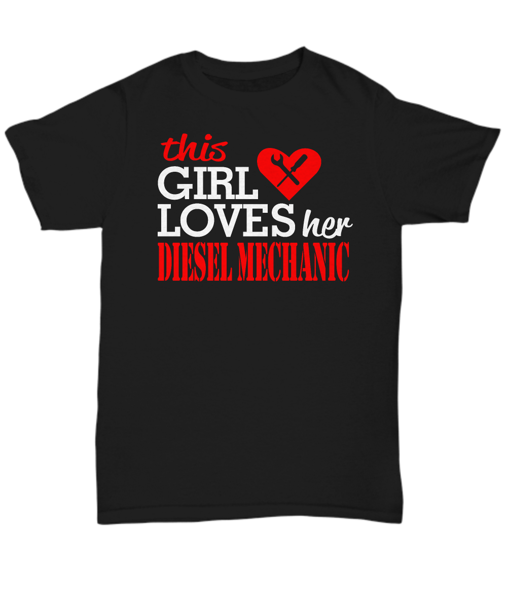 This girl loves her diesel mechanic