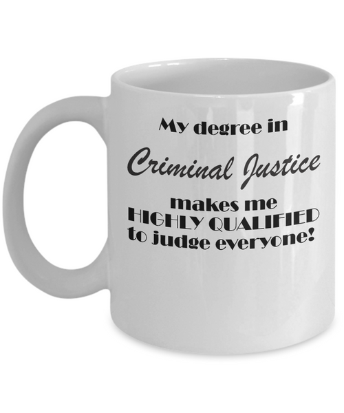 My degree in Criminal Justice