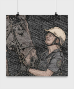Qld Police Mounted Unit - sketch poster