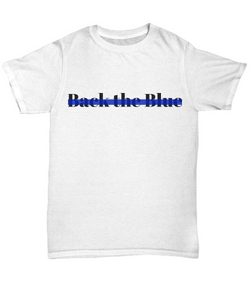 Back The Blue support for police t-shirt