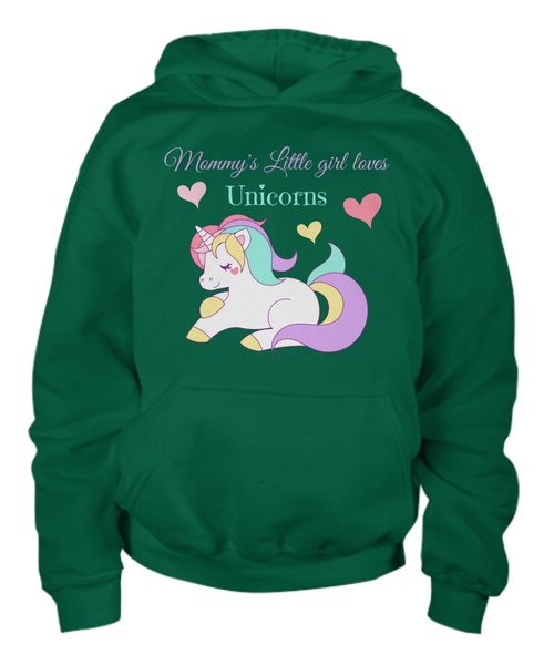 Mommy's Little girl loves Unicorns - Children's Hoodie