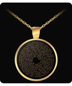 Oath of Office - Australian Police Gold Pendant