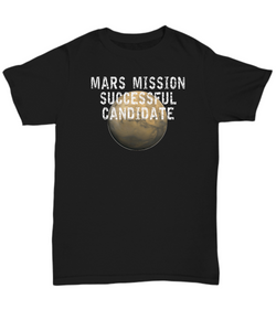 Mars Mission Successful Candidate black