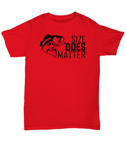 Size does matter - fishing funny t shirt