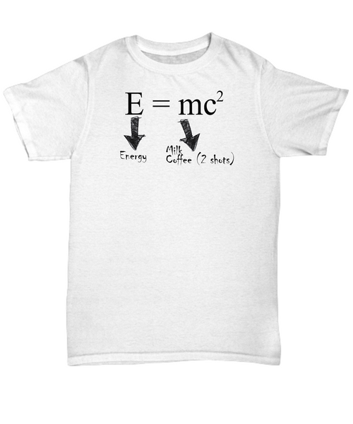 E = mc2 shirt - the formula finally makes sense
