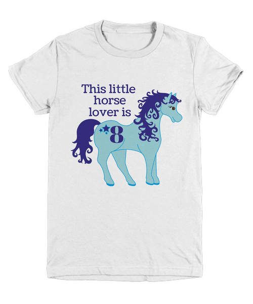 This little horse lover is 8 - birthday gift - tee