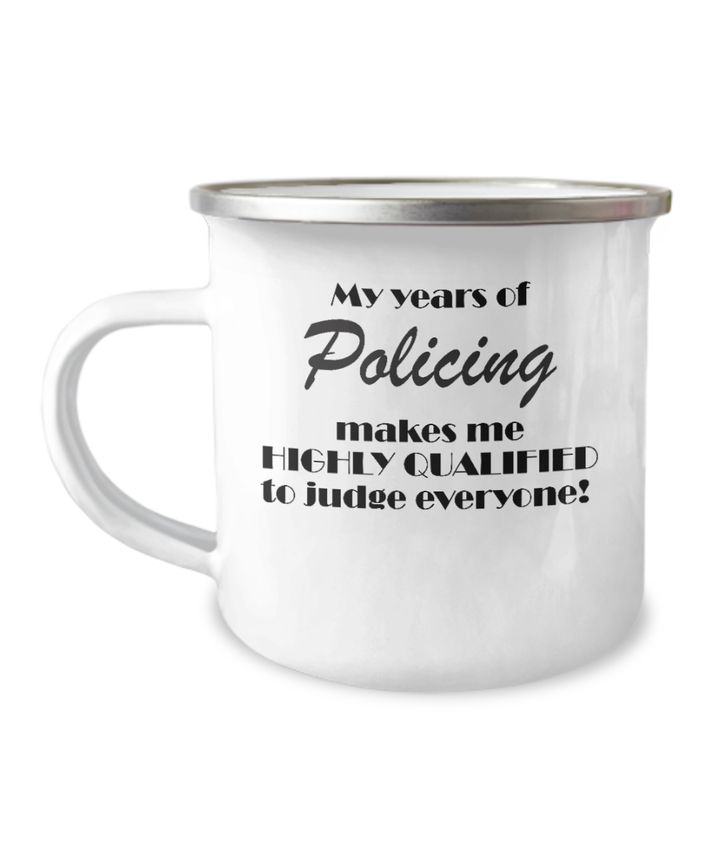 My years of policing - camping mug
