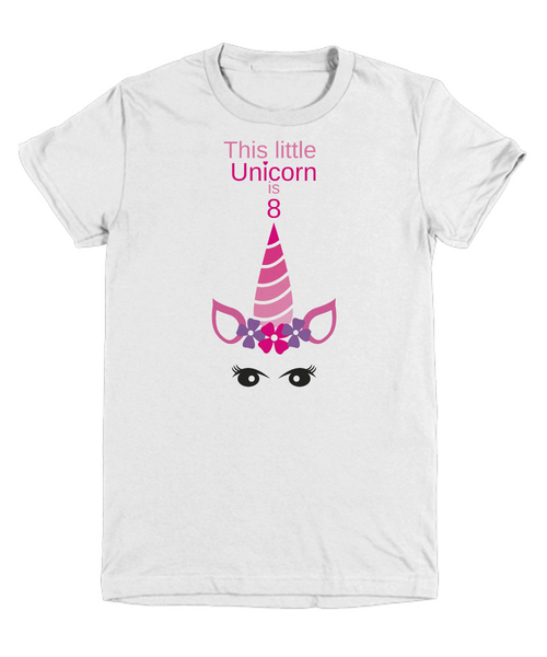 This little Unicorn is 8 - birthday gift
