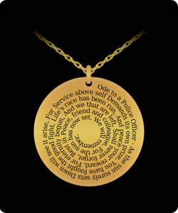 Ode to a Police Officer - 18k Gold Necklace