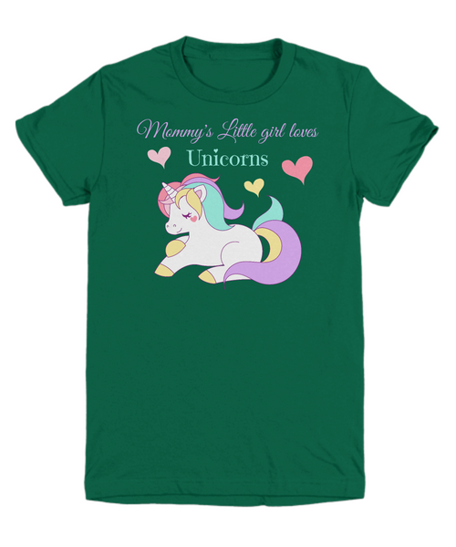 Mommy's Little girl loves Unicorns - Children's T-shirt