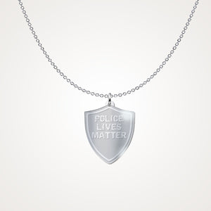 Police Lives Matter Sterling Silver Pendant & Chain