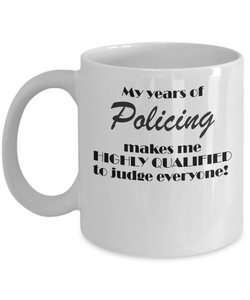 My years of policing