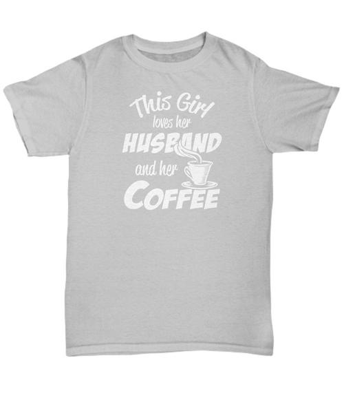 This girl loves her husband and her coffee